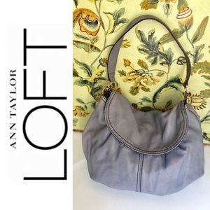 Ann Taylor Loft Leather Hobo Bag